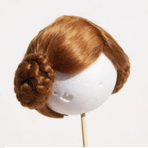 wig for doll earphones style red-blond