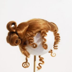 periwig for doll red-blond