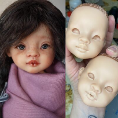 How to carve lips for custom doll Paola Reina.